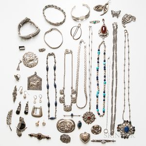 Group of Mostly Silver Jewelry