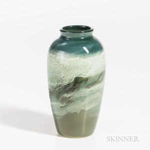 Edward T. Hurley (1869-1950) for Rookwood Pottery Sea Green Glaze Vase