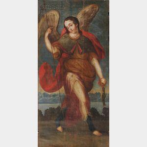 Peruvian School, 18th/19th Century      Archangel Raphael