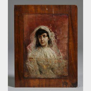 Eastern European School, 19th Century      Portrait of a Bride