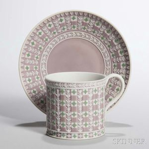 Wedgwood Tricolor Jasper Dip Diceware Coffee Can and Saucer