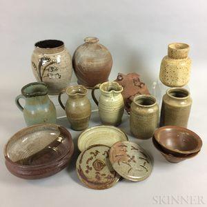 Fourteen Pieces of Wheatcroft Studio Pottery