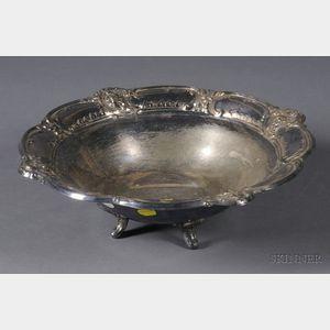 """Poole Silver Plated """"Beau-Regarde"""" Pattern Fruit Bowl"""