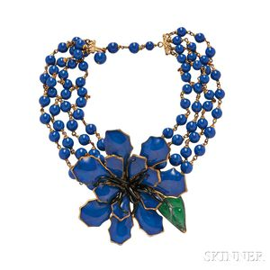 Glass and Metal Necklace, Maison Gripoix for Jean Patou