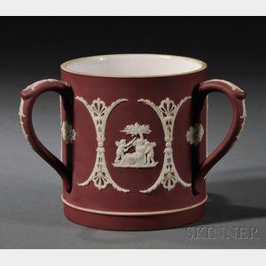 Wedgwood Crimson Jasper Dip Three-handled Cup