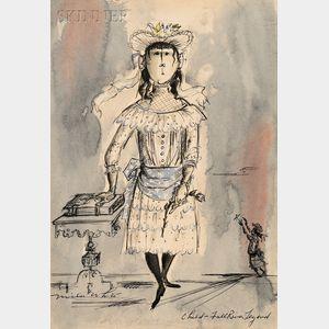 Miles White (American, 1914-2000)      Costume Design for Child- Fall River Legend