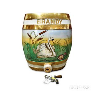 Wedgwood Pearlware Brandy Keg and Cover