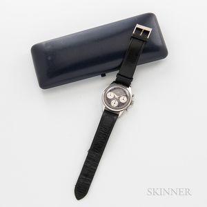 Bucherer Stainless Steel Three-register Chronograph Wristwatch