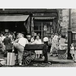 Todd Webb (American, 1905-2000)      Suffolk Street at Hester Street, New York