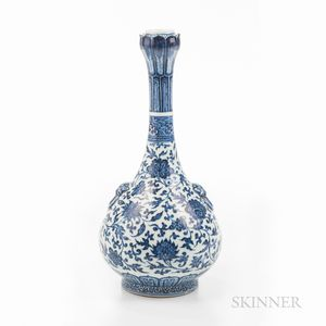 Sold for: $1,272,500 - Blue and White Lotus-mouth Bottle Vase