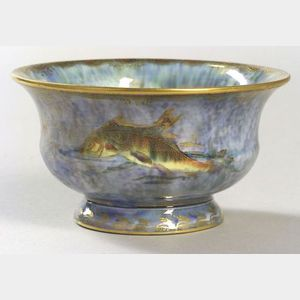Small Wedgwood Fish Decorated Lustre Ware Porcelain Bowl.