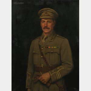 Frank Markham Skipworth (American, 1854-1929)    Portrait of a Military Official