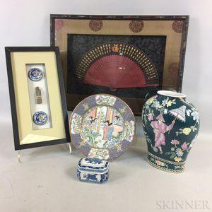 Five Modern Asian Decorative Items.