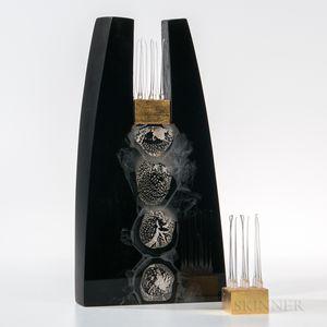 Hiromi Masuda Time   Art Glass Sculpture