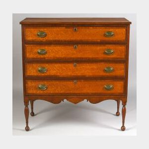 Federal Cherry and Bird's-eye Maple Inlaid Chest of Drawers