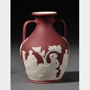 Wedgwood Crimson Jasper Dip Portland Vase