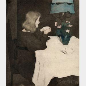 Alfredo Müller (Italian, 1869-1940)      La tasse de thé