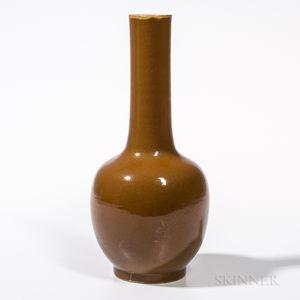 Brown-glazed Bottle Vase