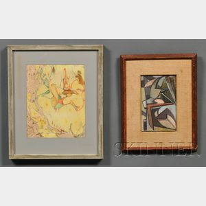 William Horace Littlefield  (American, 1902-1969)      Lot of Two Works: Abstraction II