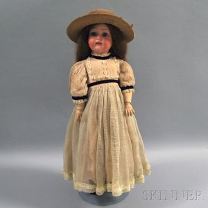 German Bisque Head Girl Doll