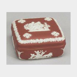 Wedgwood Crimson Jasper Dip Box and Cover