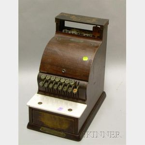 National Cash Register Co. Wood Grain Metal Cash Register