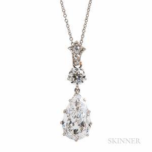 Edwardian Tiffany & Co. Platinum and Diamond Pendant