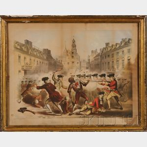 J.H. Bufford after W. Champney, Thomas A. Arms, publisher (Boston, 19th Century)      BOSTON MASSACRE, MARCH 5TH 1770.
