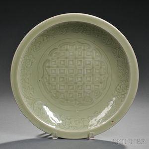 Large Celadon Dish