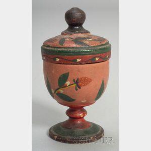 Lehnware Covered Saffron Cup