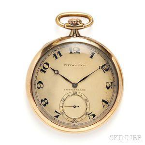 18kt Gold Open Face Pocket Watch, Tiffany & Co.