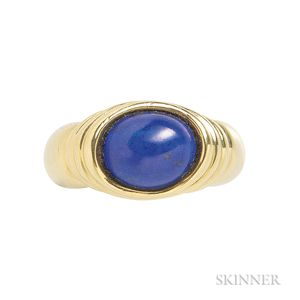18kt Gold and Lapis Ring, Tiffany & Co.