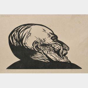 Leonard Baskin (American, 1922-2000)      Mantegna at Eremtiani