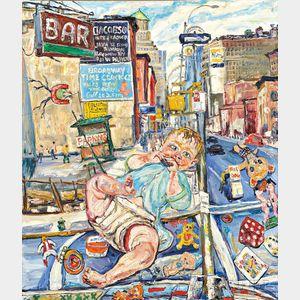 Phillip Sherrod (American, b. 1935)      Bar Baby and Sixth Avenue