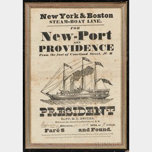 "Printed Broadside ""New-Port and PROVIDENCE,"""