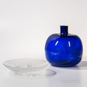 Anna Matoušková Blue Islands   Sculpture and an Art Glass Charger