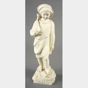 Copeland Parian Figure of The Young Emigrant