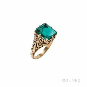 Antique T.B. Starr Gold and Emerald Ring