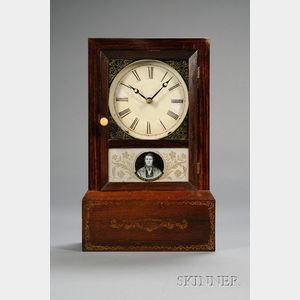 Grain-painted Cottage Clock by Brewster & Ingrahams
