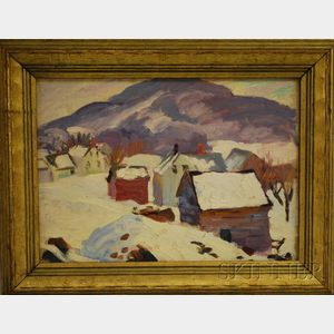 Attributed to Charles Rosen (American, 1878-1950)      Winter Scene