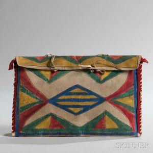 Lakota Polychrome Parfleche Flat Bag