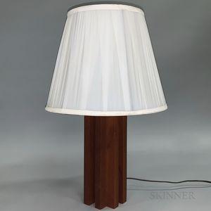 Geometric Teak Lamp