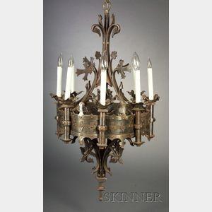 Gothic-style Steel Eight-light Chandelier