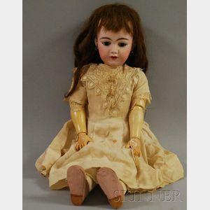 Simon and Halbig German Bisque Head Doll