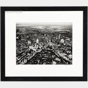 Bradford Washburn (American, 1910-2007)      Aerial View of Boston