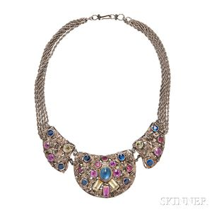 Vintage Costume Necklace, Attributed to Hobe