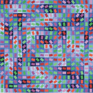 Victor Vasarely (Hungarian/French, 1906-1997)      Rhythm