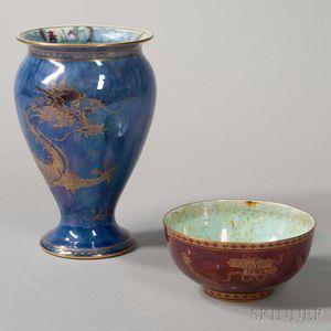 Two Wedgwood Lustre Items