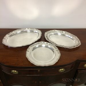 Four Tiffany & Co. Silver-plated Trays