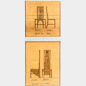 Giclee Print of Two Charles Rennie Mackintosh Chair Designs